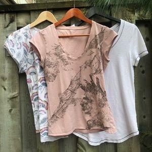 Anthropologie 3 for $30 T.LA T-shirts Cotton